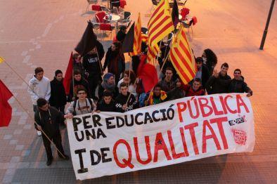 El SEPC durant una manifestació // Jose Polo