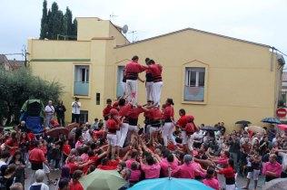 Primer intent fallit dels Xicots de Vilafranca de fer el 4 de 8 // Jordi Julià
