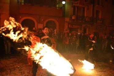 Els Diables de Valls han estat els convidats al correfoc d'aniversari dels Diables // Elisenda Colell