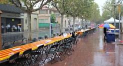 La forta pluja ha obligat a acabar l'activitat de les puntaires abans de temps // David Guerrero
