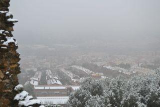 La neu emblanquina part de Molins de Rei, vist des del Castell Ciuró // Elisenda Colell
