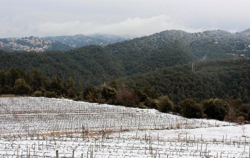 La neu s'ha desfet en alguns indrets i en altres no // Jose Polo