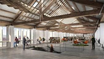 Planta superior de la biblioteca Pau Vila // Ajuntament de Molins de Rei