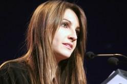 Mònica Usart, concentrada, durant el pregó // Jose Polo