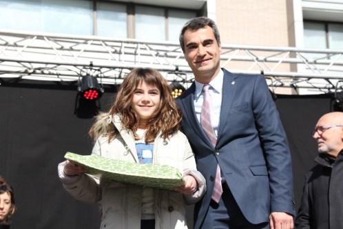 Joan Ramon Casals i Marina Massos, guanyador del primer premi de la categoria dels grans // Marc Pidelaserra