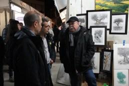 Sánchez ha admés alguna queixa dels artistes per la seva ubicació a la plaça del Palau // DGM