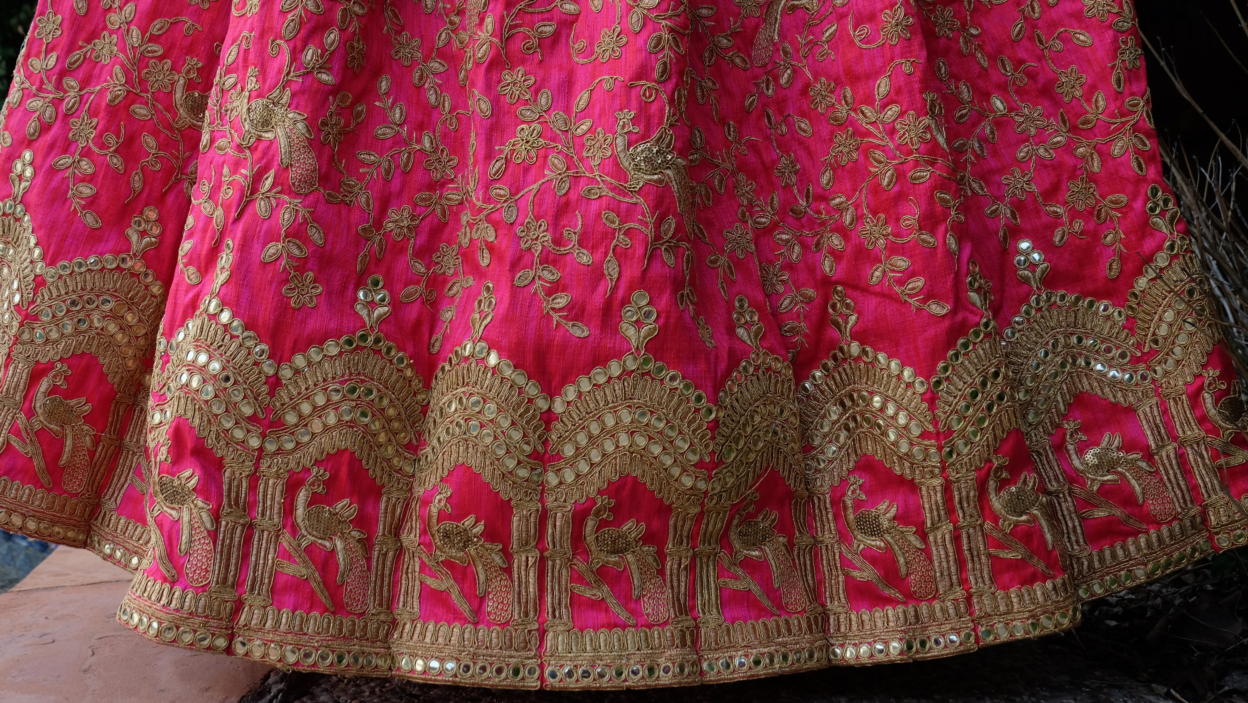 Embroidered Long Skirt