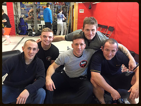 A group photo at the Salford MMA interclub