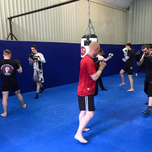 Our Kickboxing class in full sing
