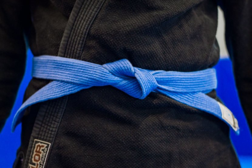 Rober Eades wearing his Brazilian Jiu Jitsu Blue Belt