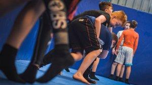Kids Martial Arts class in full swing