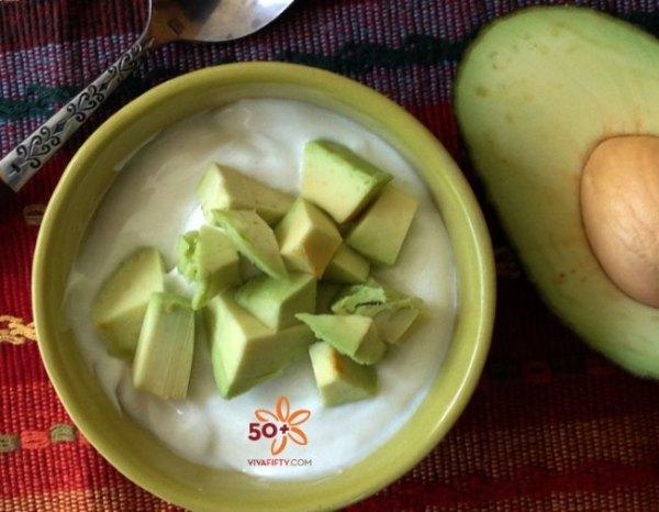 Yogurt and avocado snack hack for healthy eating