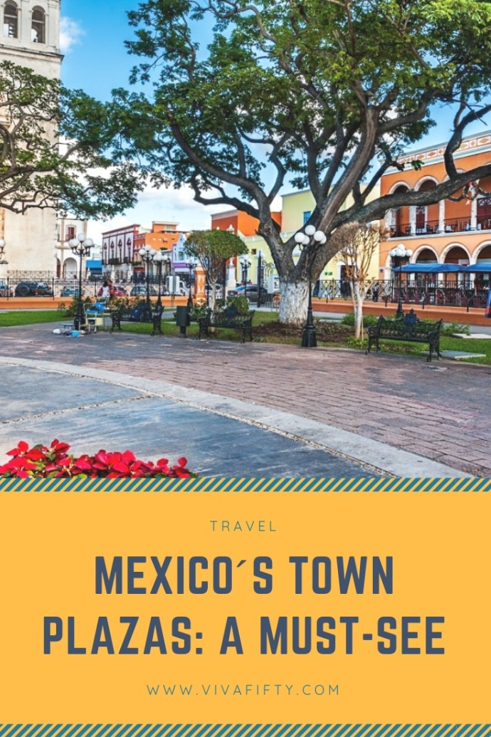 """Traditional Mexican towns were laid out around a central square from the time of the Conquista. In 1573 the King of Spain, created what was called the """"Law of the Indies,"""" which set forth rules for colonial life, including a decree stating that all new towns must have a central plaza surrounded by important buildings; usually the church and government offices. #travel #mexico #plazas"""