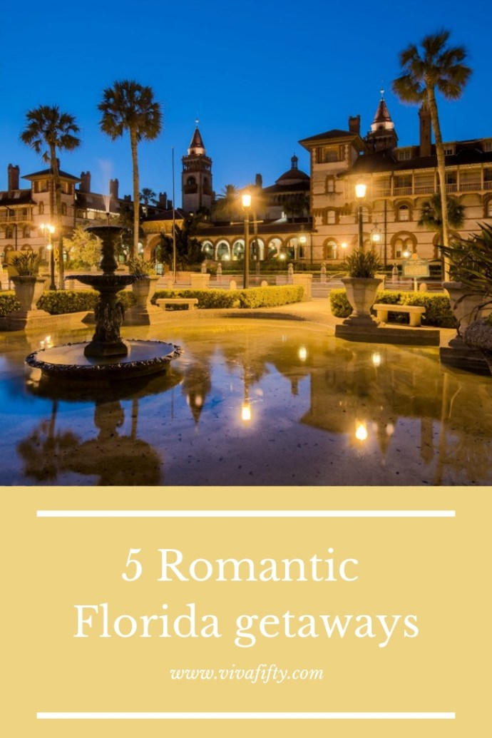 Everyone could use a vacation, especially in midlife. Here are a few ideas for romantic Florida getaways from Key West to St. Agustine. #travel #staugustine #holidays #florida