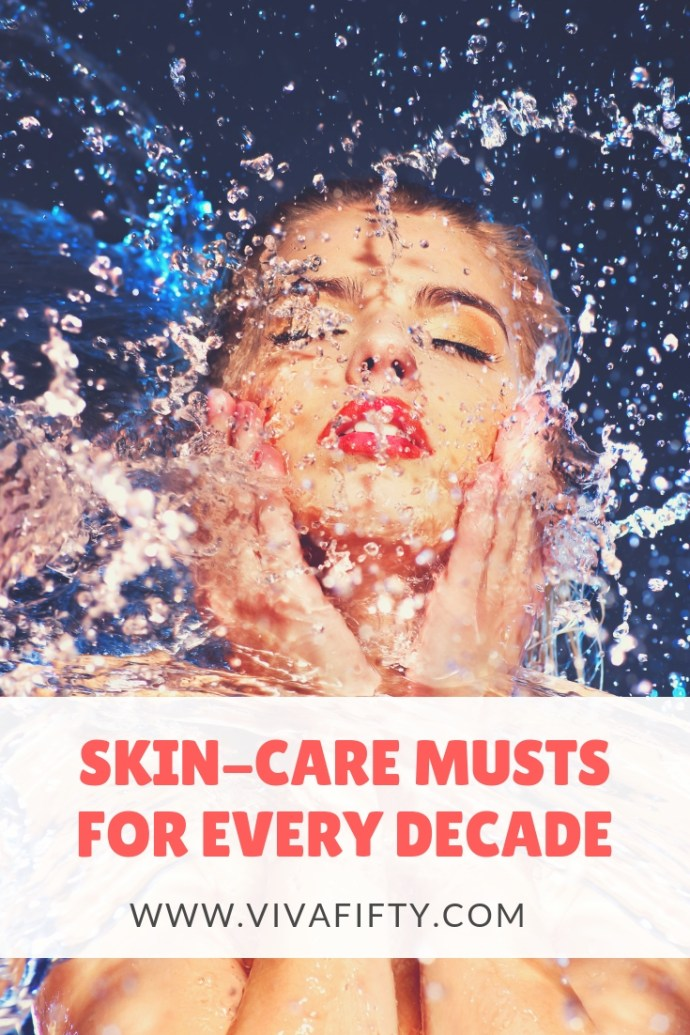Skincare needs to be different for every decade. I started taking care of my skin at 12 and in my 50´s I´m still going strong. Here is what I know about taking care of your skin from your 20´s to your 70´s. #skincare #beauty #antiaging #proaging #selfcare