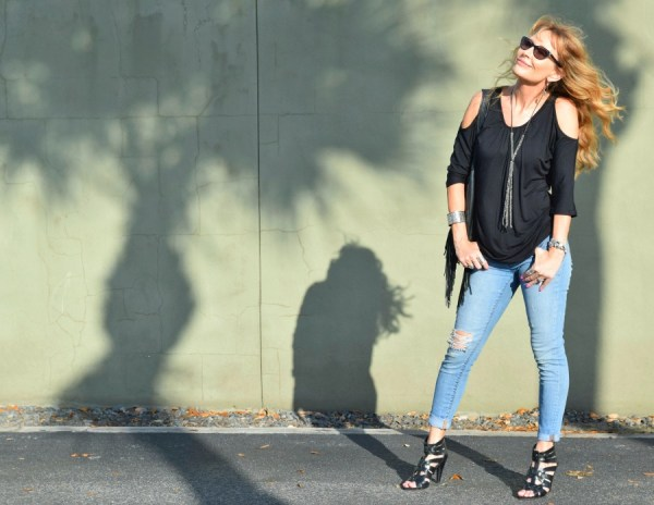 Give fall the cold shoulder with this top by Covered Perfectly