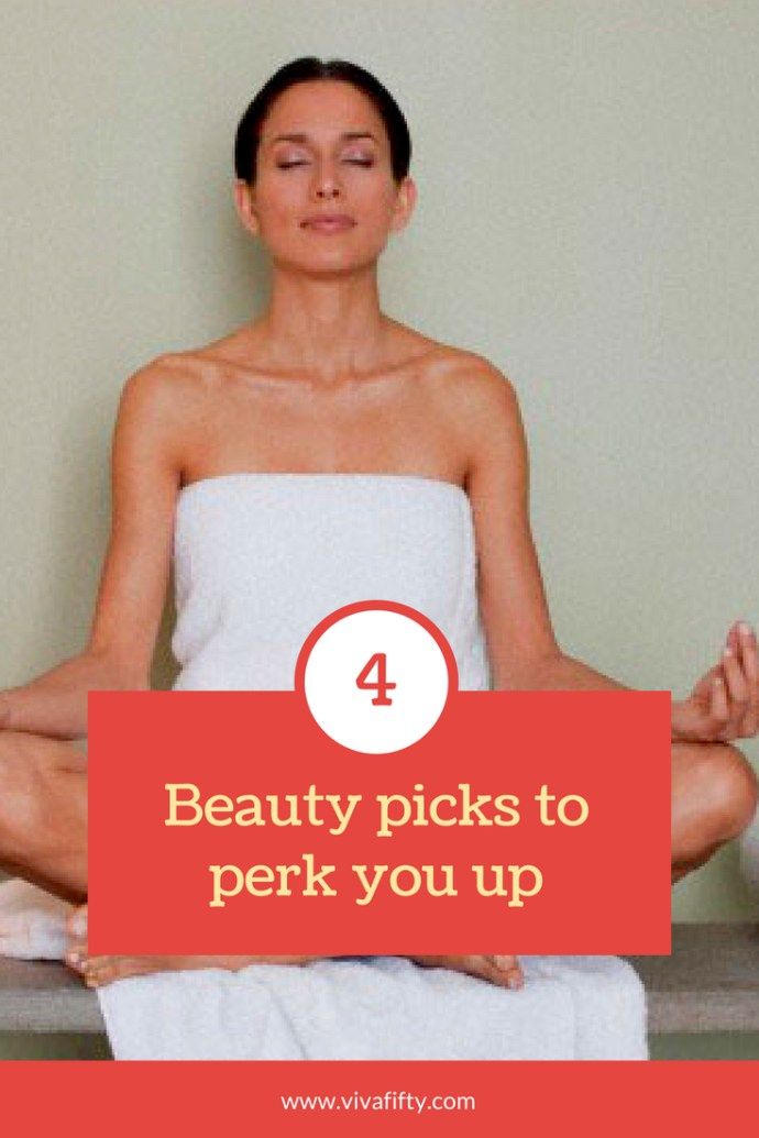 Self-care is number one when it comes to feeling more perky and joyful. Whether it's taking care of your skin, your hair, or catching some extra sleep, here are four beauty finds we love for a quick pick-me-up. #beauty #midlife #uplifting
