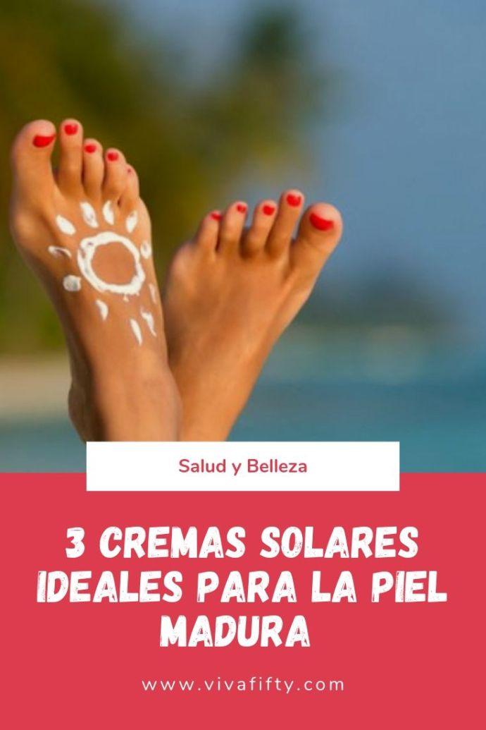 La crema solar es un producto esencial para las mujeres de todas las edades. Aplicarla a diario se vuelve especialmente importante pasados los 50. #belleza #piel #cutis