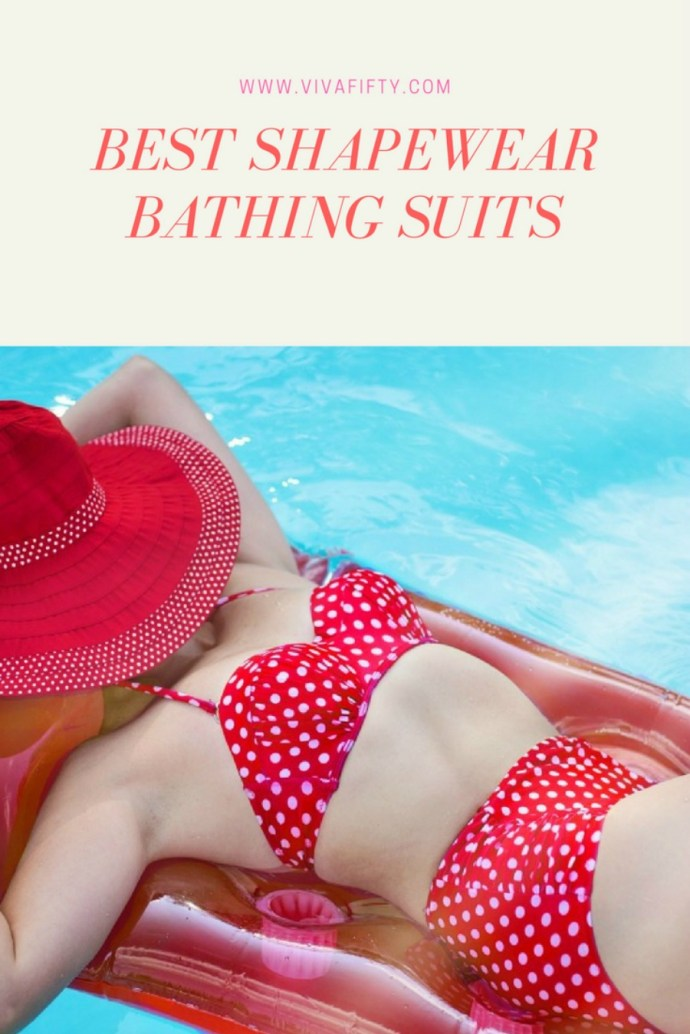 Best shape wear bathing suits for women of all ages. Some styles cover your cleavage, others enhance it, most offer tummy support, upper thigh coverage or both. All of them are stylish, and can be worn at the pool or at the beach with confidence. #shapewear #bathingsuits #style #fashion
