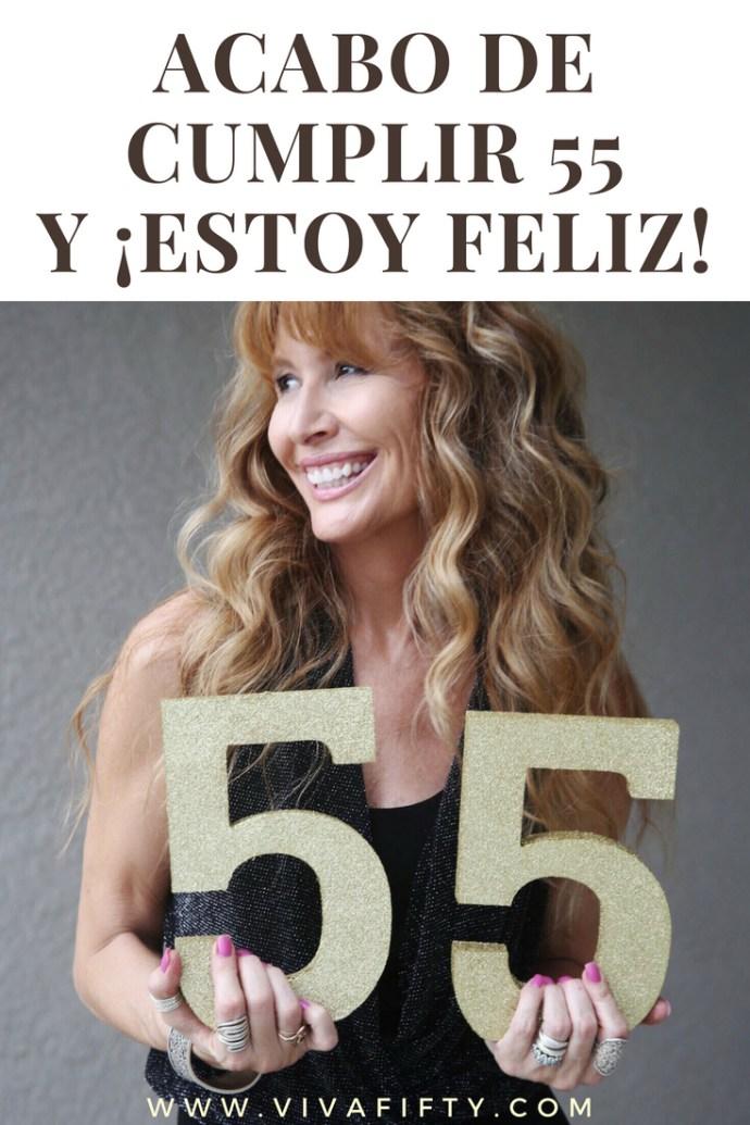 Estoy encantada de cumplir 55 años. Por lo general las mujeres de esta edad solo tienen motivos para quejarse. Yo te cuento aquí por qué estoy agradecidísima por éste y por todos los cumpleaños. #medianaedad #cincuentaaños #cumpleaños