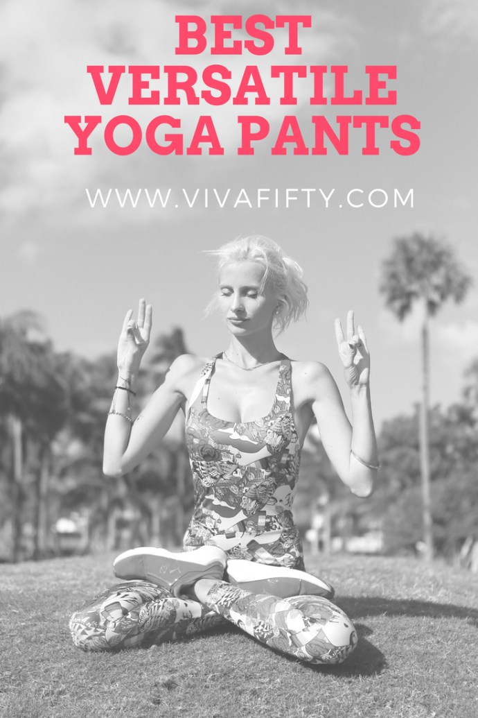 I absolutely live in yoga pants that can take me from school pick-up and the park to the gym and the grocery store. I even have some that I absolutely love to travel in and often dress up a bit with a button-down shirt and a pair of boots. Yoga pants are comfy and versatile! Keep reading to find out some of our favorite brands. #yoga #yogapants #style #fashion