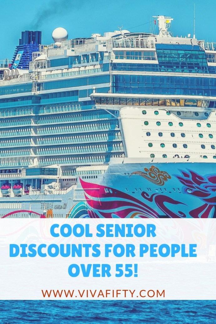 There are actually a bunch of really cool and some unexpected discounts available for the 55 and older crowd, including everything from travel discounts to discounts at retail stores. #midlife #discounts #over50 #seniordiscounts #over55