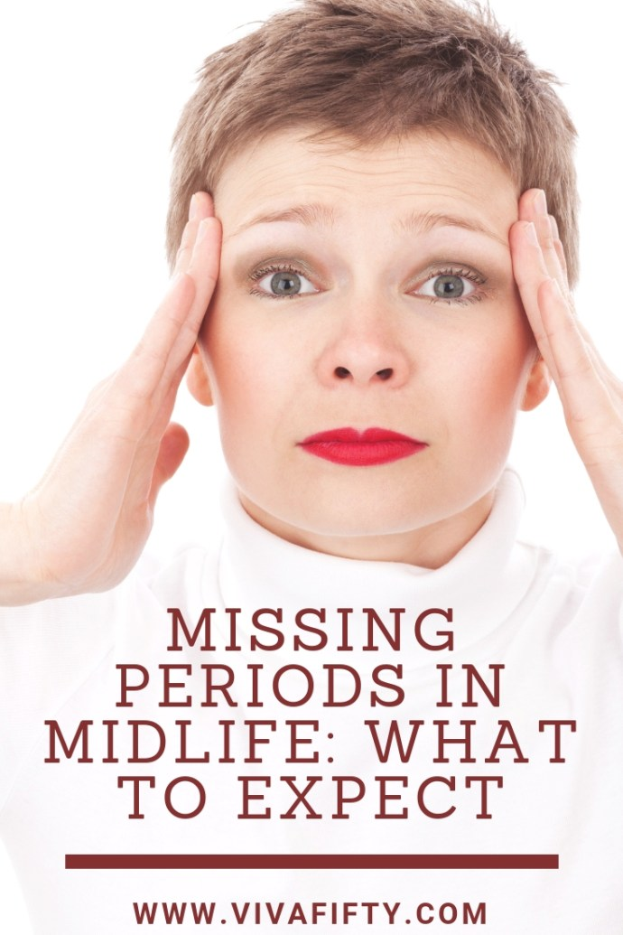 Missing periods can be alarming, and at a certain point in life, it can mean the onset of perimenopause or menopause. But maybe it´s something else. Read on to find out what. #menopause #perimenopause #periods #midlife