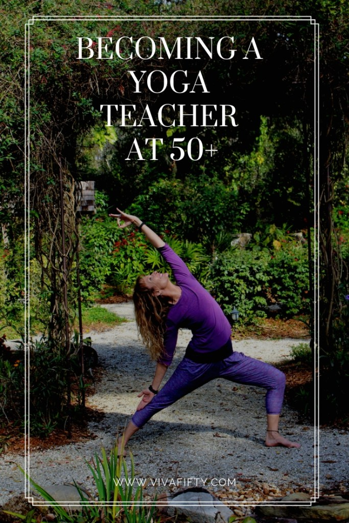 If you've been wanting to get your yoga teacher certificate, there are specialty yoga teacher trainings designed for the 50-plus population. #senioryoga #YTT200 #YTT500 #yogateachertraining #over50
