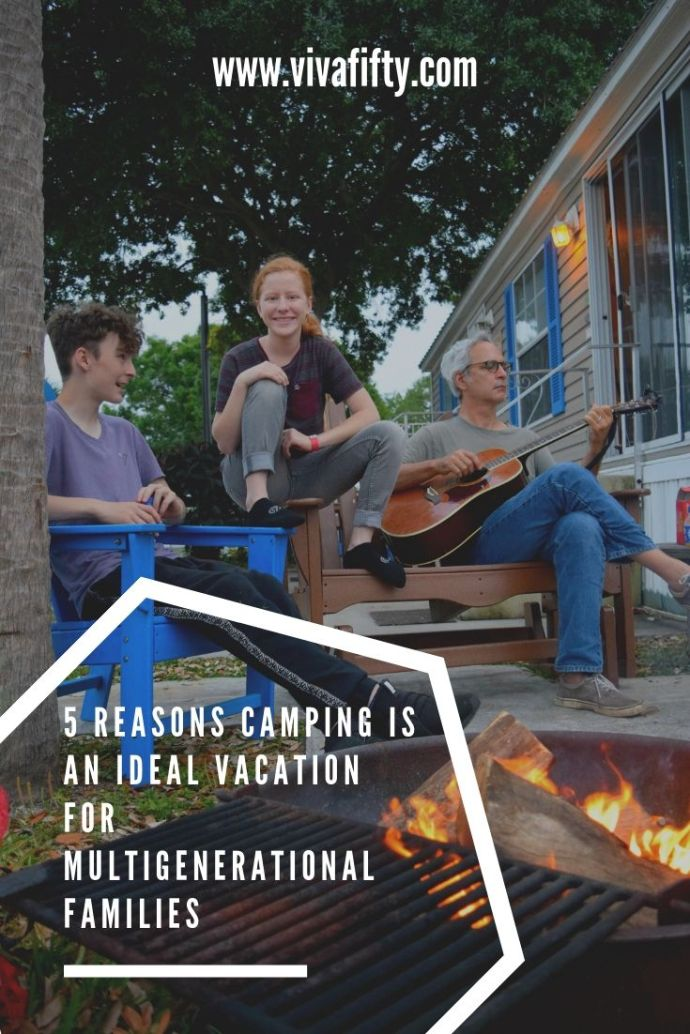 Of all possible ways to vacation, camping is ideal for multigenerational families because in one same campground each family member can have a different experience. #ad #KOAcamping #camping