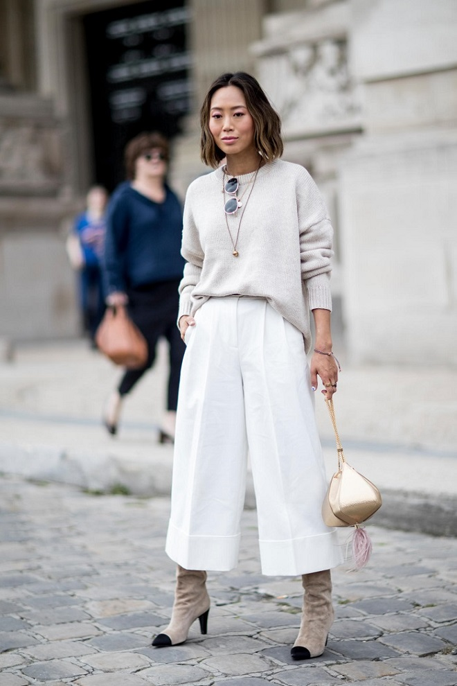 21 80s Fashion Trends that We Still Wear Today White pants sweater