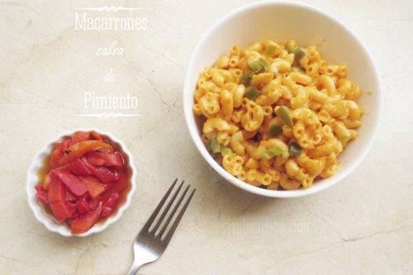 macarrones con salsa de pimiento
