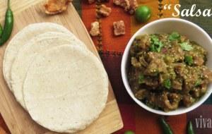Chicharrón en salsa verde. Receta fácil para un aperitivo delicioso