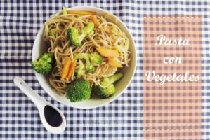 Receta fácil de Pasta Oriental con Verduras