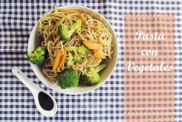 Receta de Pasta Oriental con Verduras