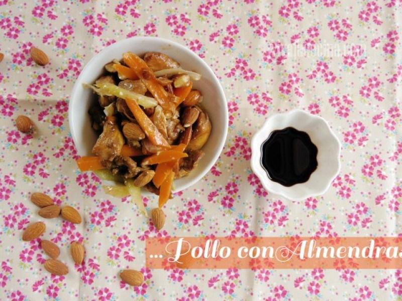Receta de pollo salteado con almendras y verduras