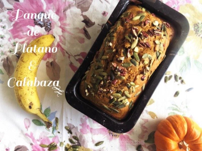 pan de plátano y calabaza