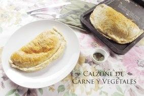 Calzone de Carne molida con Vegetales y Queso   Receta fácil
