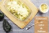 Camarones gratinados en Salsa de Poblano   Receta fácil con camarones