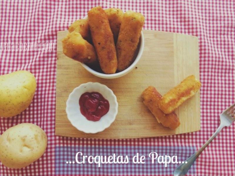 receta de croquetas de papa