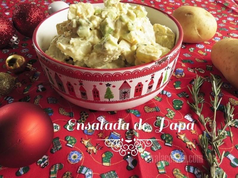 receta de ensalada de papa para Navidad