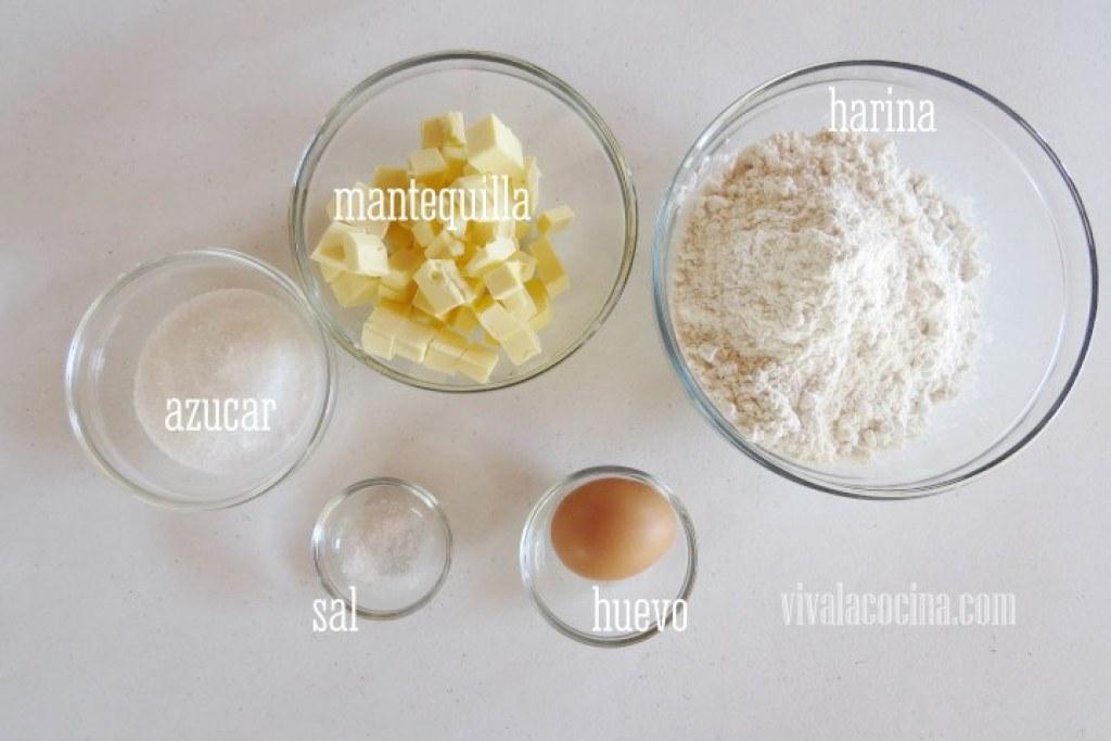 Ingredientes Masa para la Tarta Tatin