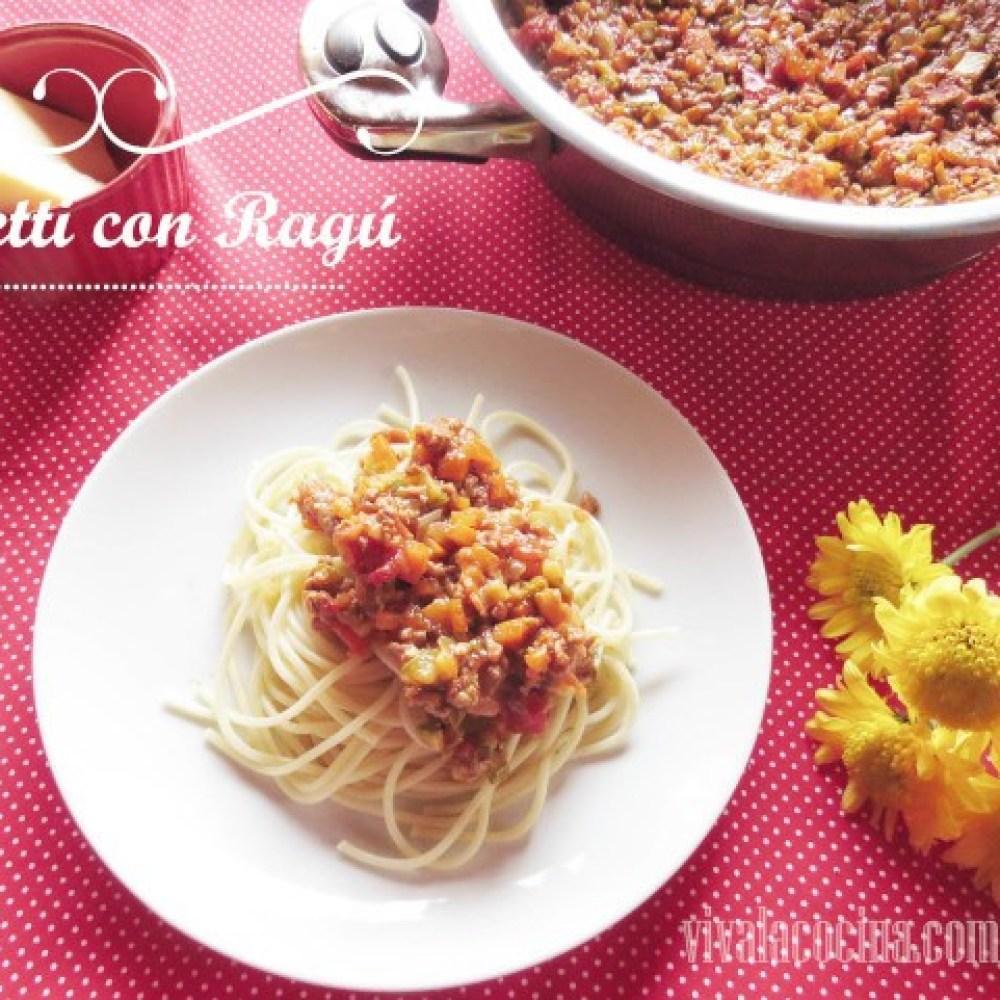 Spaghetti con ragú