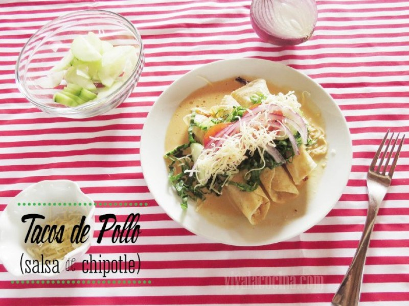 receta de tacos de pollo con salsa chipotle