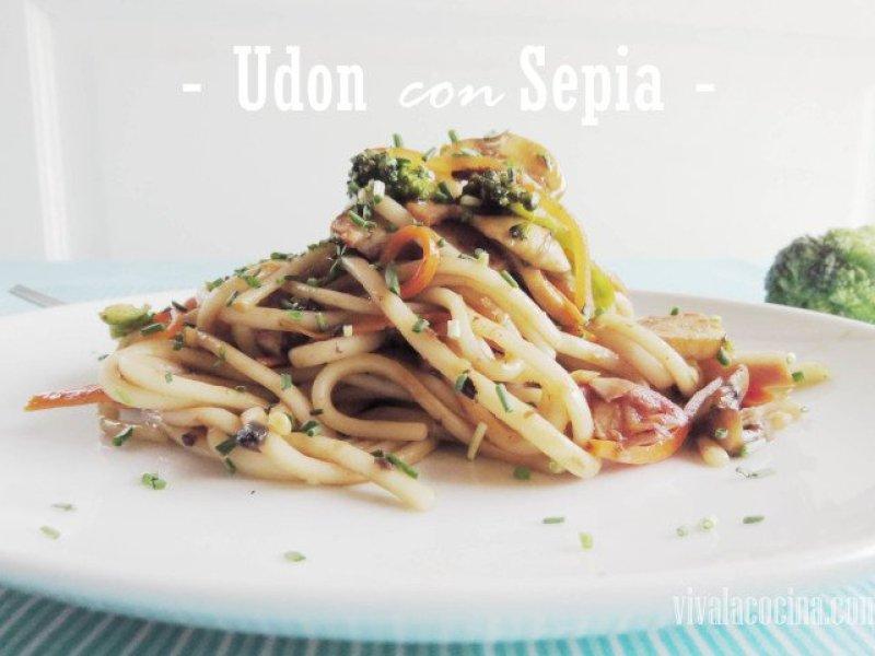 Udon con Sepia