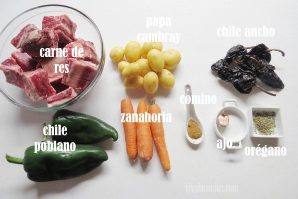 Ingredientes de Barbacoa de Res Estilo Sinaloa
