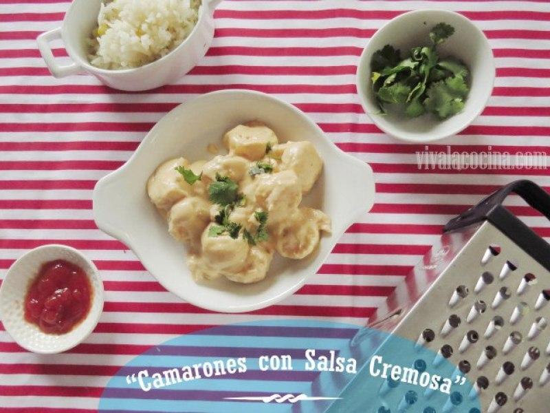 Camarones en Salsa Cremosa