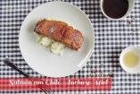 Salmón con Glaseado de Miel y Chile Ancho: receta