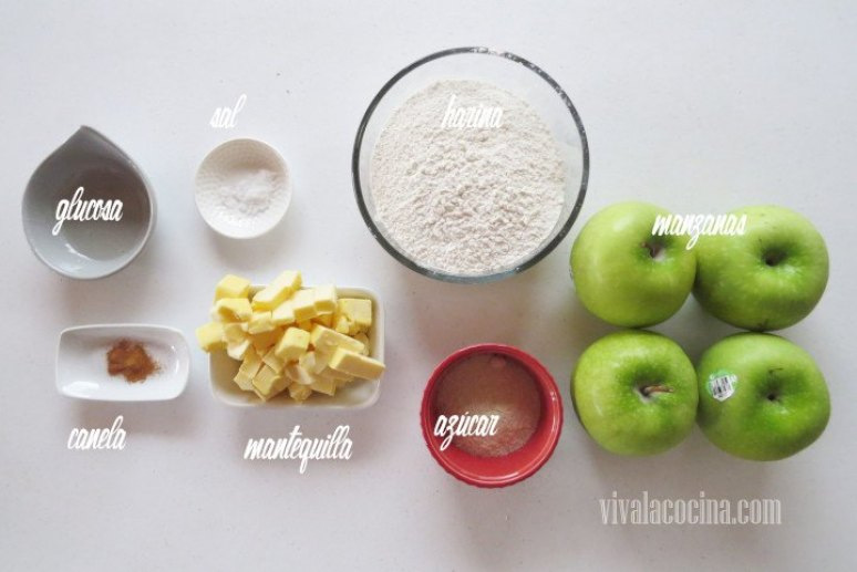 Ingredientes de la receta de Tarta de Manzana