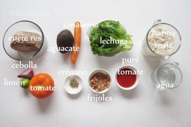 Ingredientes para los Antojitos Mexicanos