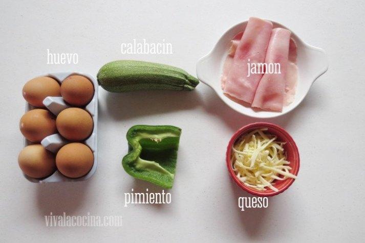 Ingredientes para las mini frittatas
